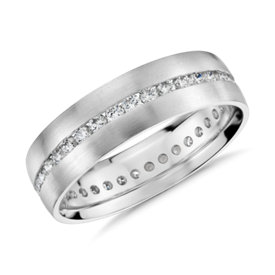 Channel-Set Diamond Eternity Ring in 14k White Gold (6mm)
