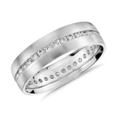 Channel-Set Diamond Eternity Ring in Platinum (6mm)