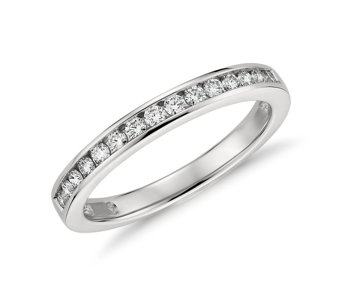 Channel Set Diamond Ring in Platinum (1/4 ct. tw.)