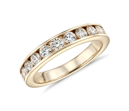 Channel Set Diamond Ring in 14k Yellow Gold 1 ct tw