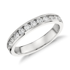Bague diamants sertis barrette en platine