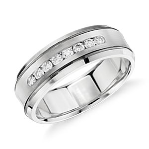 Diamond Channel Set Wedding Ring in 14k White Gold (1/3 ct. tw.)