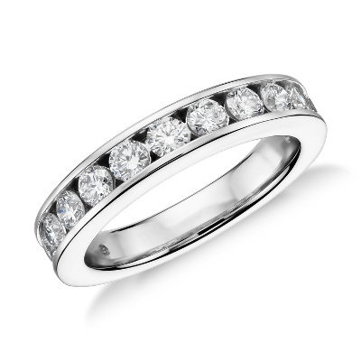 Channel Set Diamond Ring in Platinum 1 ct tw Blue Nile