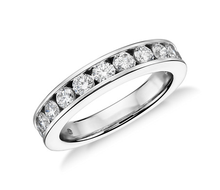 ags diamond band com set carat in white channel gold certified amazon tw dp