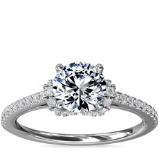 NEW Petite Chevron Cathedral Diamond Engagement Ring in Platinum (1/4 ct.tw.)