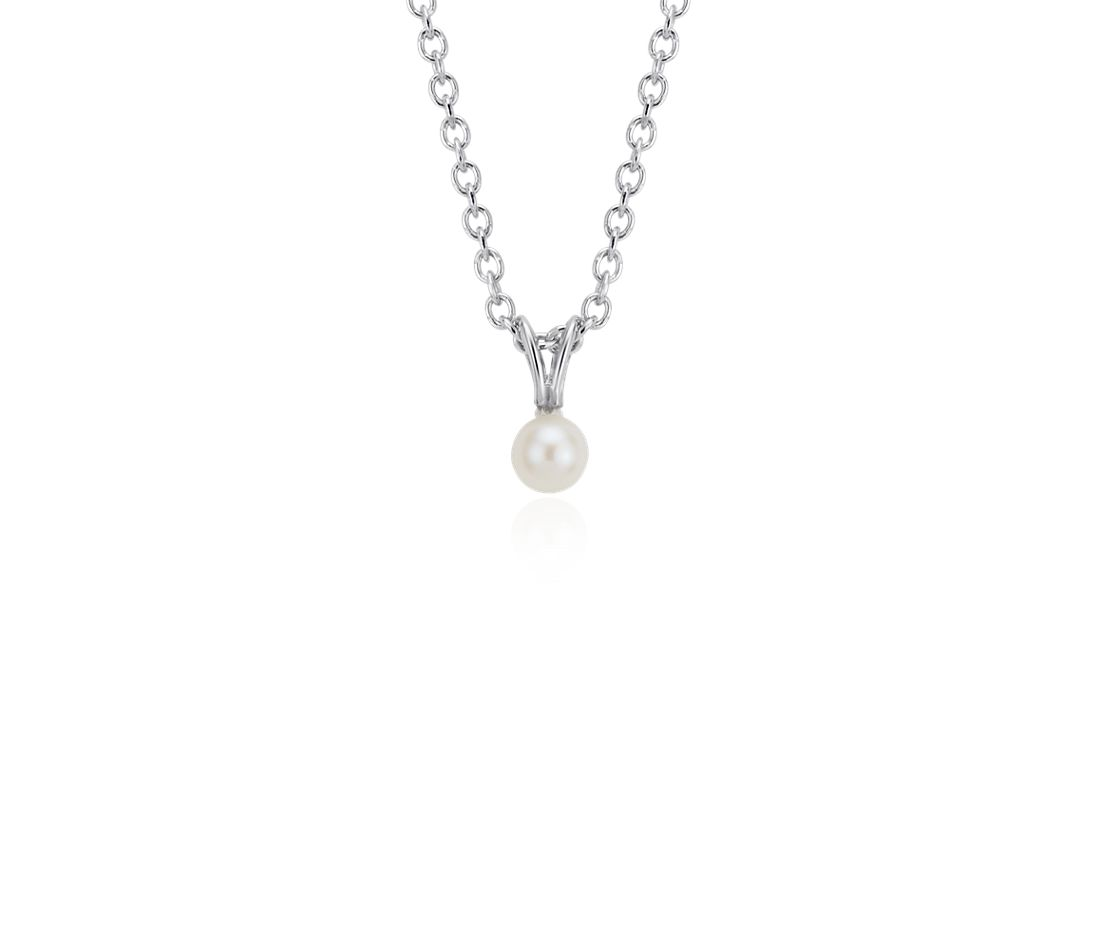 Children's Freshwater Cultured Pearl Pendant in Sterling Silver