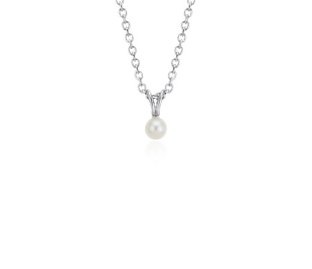 Blue Nile Freshwater Cultured Pearl Rope Pendant in Sterling Silver (7mm) gpxFg7DC
