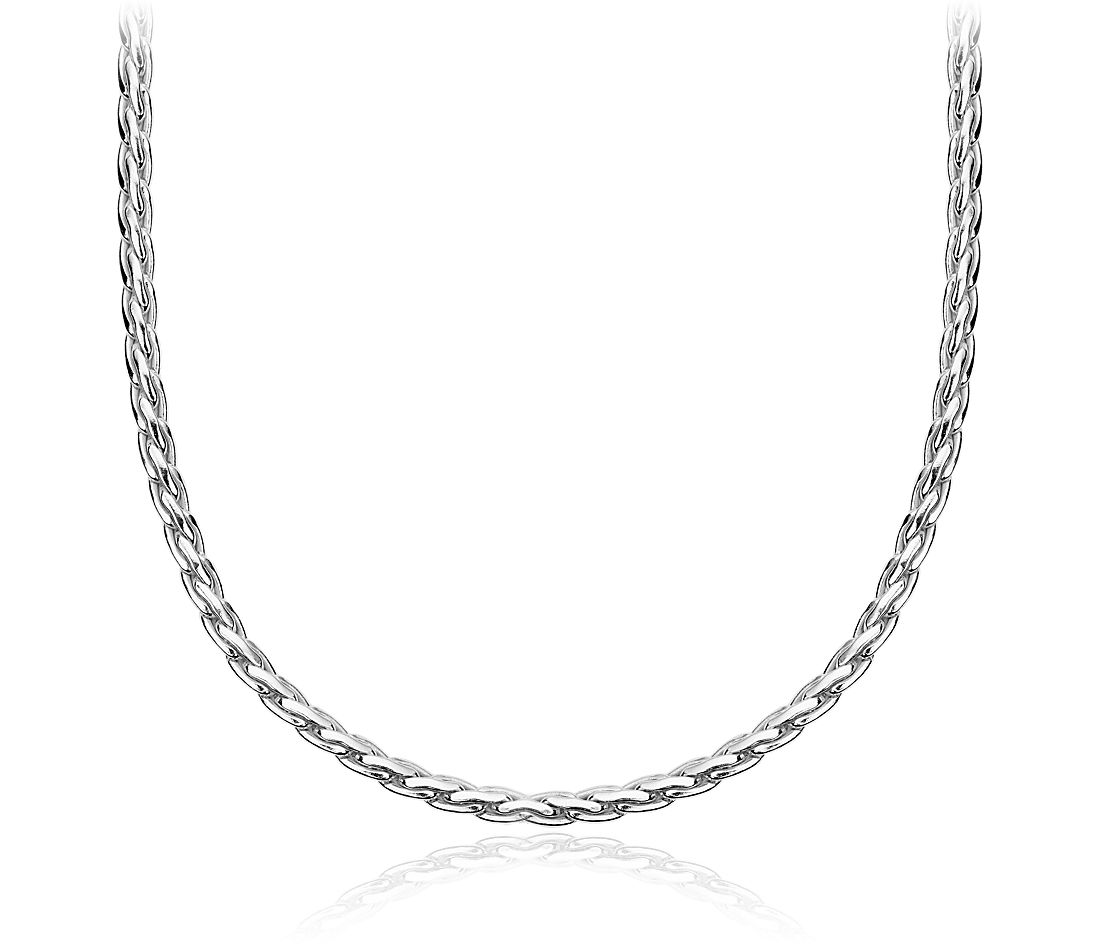 Rope Choker Necklace in Sterling Silver