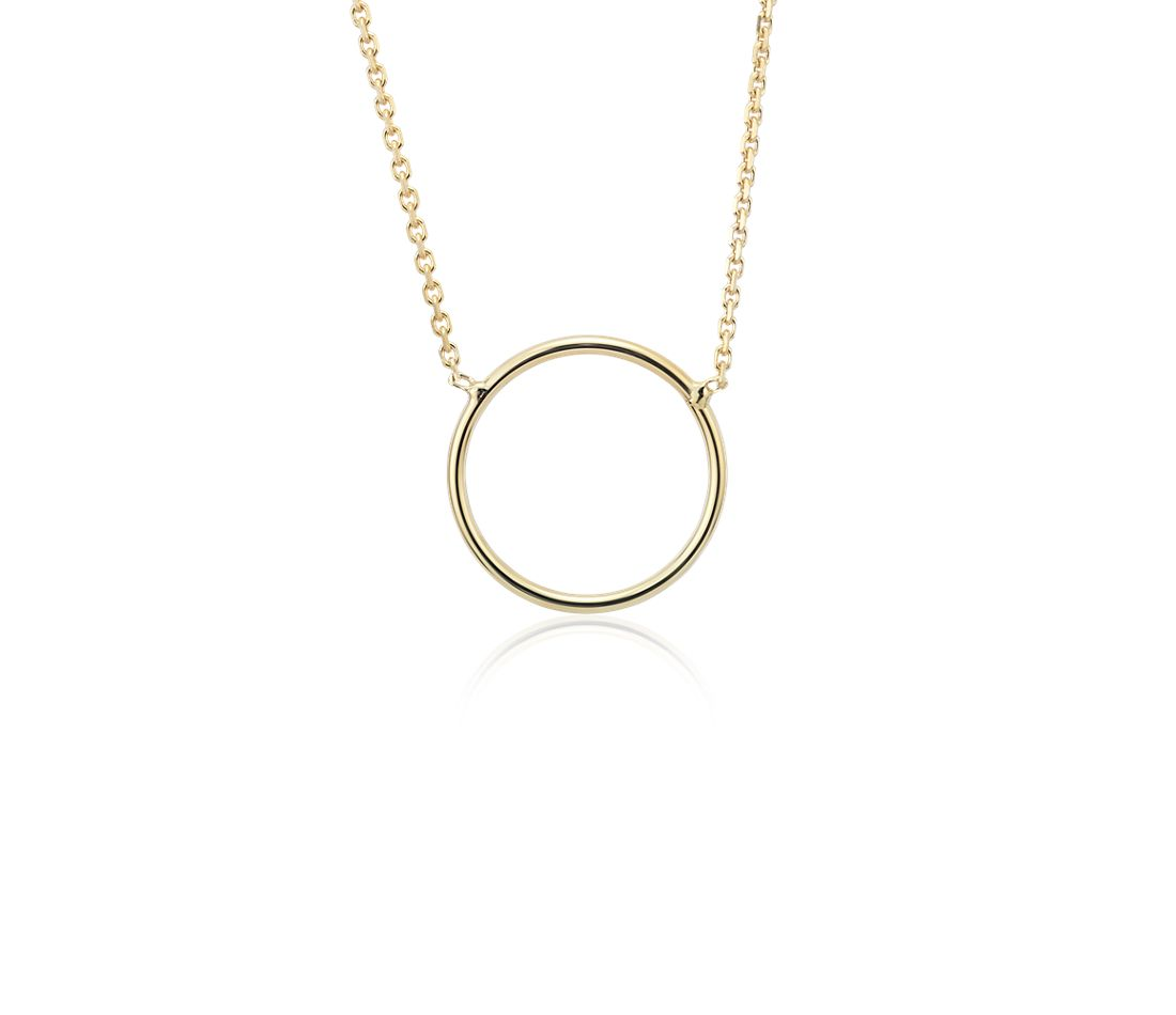 Delicate Circle Necklace in 14k Yellow Gold