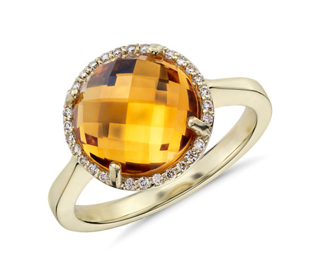 sale detail for product yellow trillion diamond citrine gold ring white