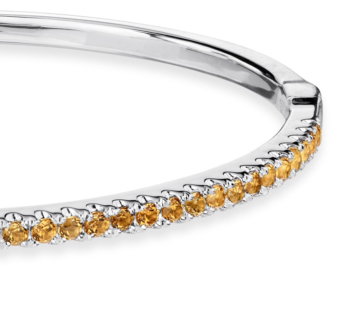 Bracelet citrine en argent sterling