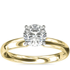 NEW Classic Comfort Fit Solitaire Engagement Ring in 18k Yellow Gold (2.5mm)