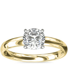 Classic Comfort Fit Solitaire Engagement Ring in 18k Yellow Gold (2.5mm)