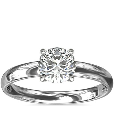 Classic Comfort Fit Solitaire Engagement Ring in Platinum (2.5mm)