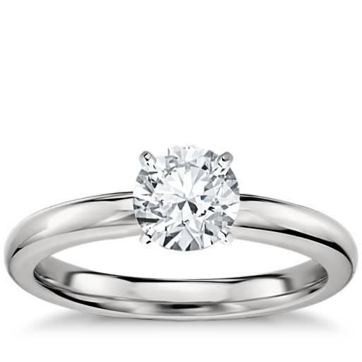 Classic Comfort Fit Solitaire Engagement Ring in Platinum (2.5mm ...