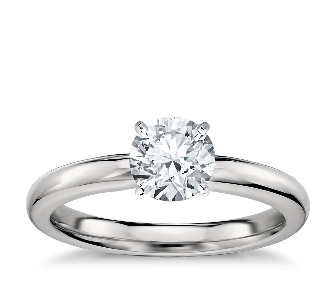 Clic Comfort Fit Solitaire Engagement Ring In Platinum 2 5mm