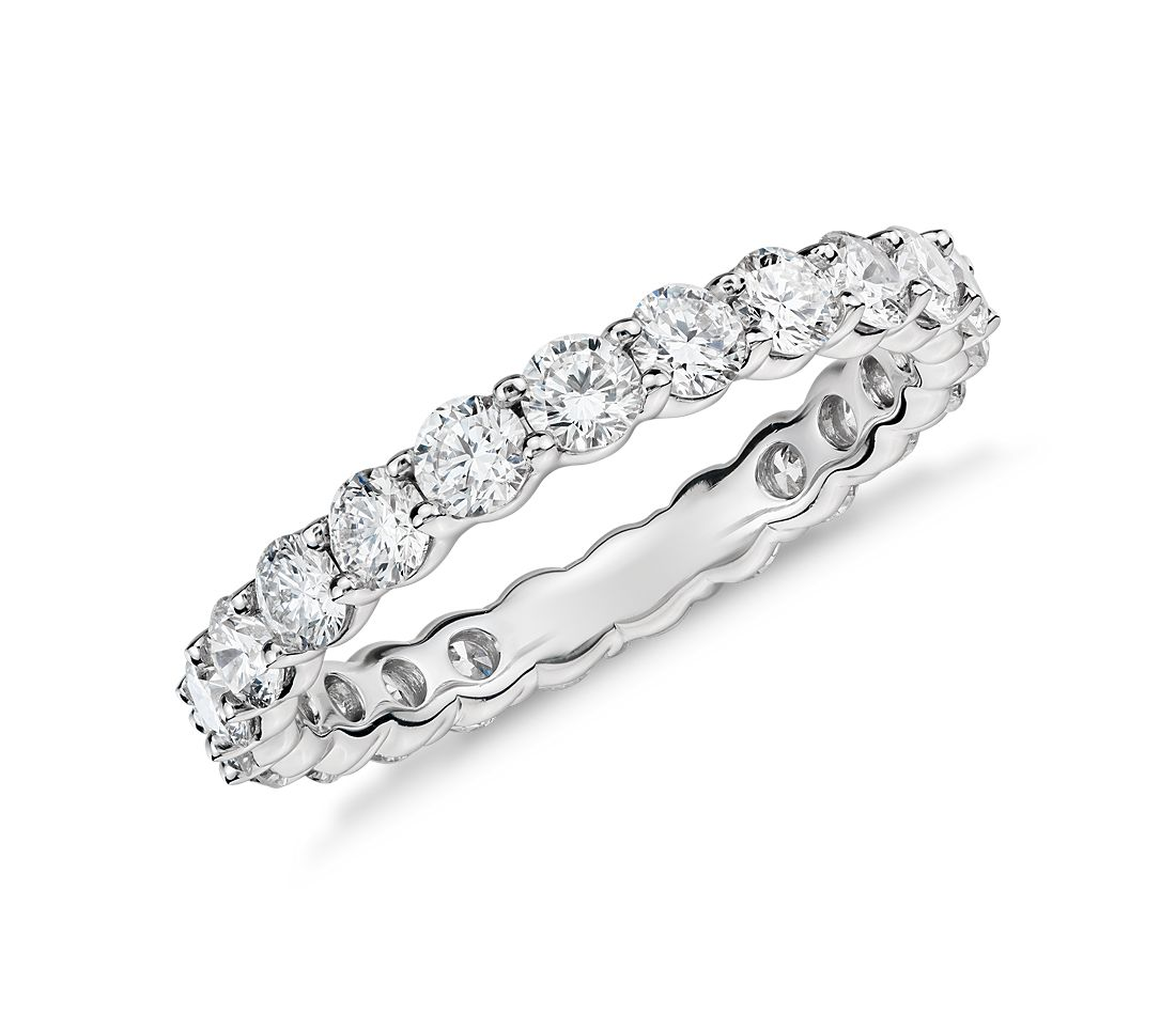 classic diamond eternity ring in platinum 2 ct tw - 2 Carat Wedding Ring