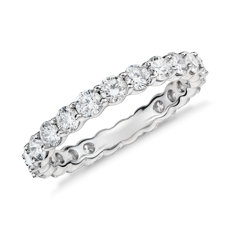 classic diamond eternity ring in platinum 2 ct tw