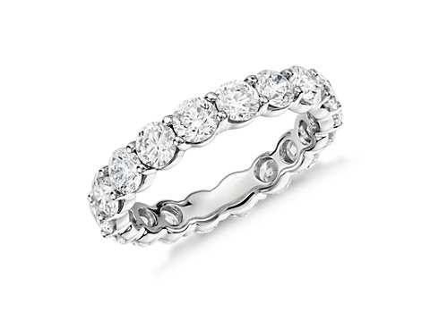 Wedding Bands For Women.Classic Diamond Eternity Ring In Platinum 2 3 8 Ct Tw