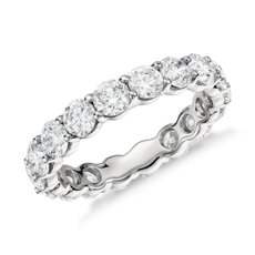 Clic Diamond Eternity Ring In Platinum 3 Ct Tw