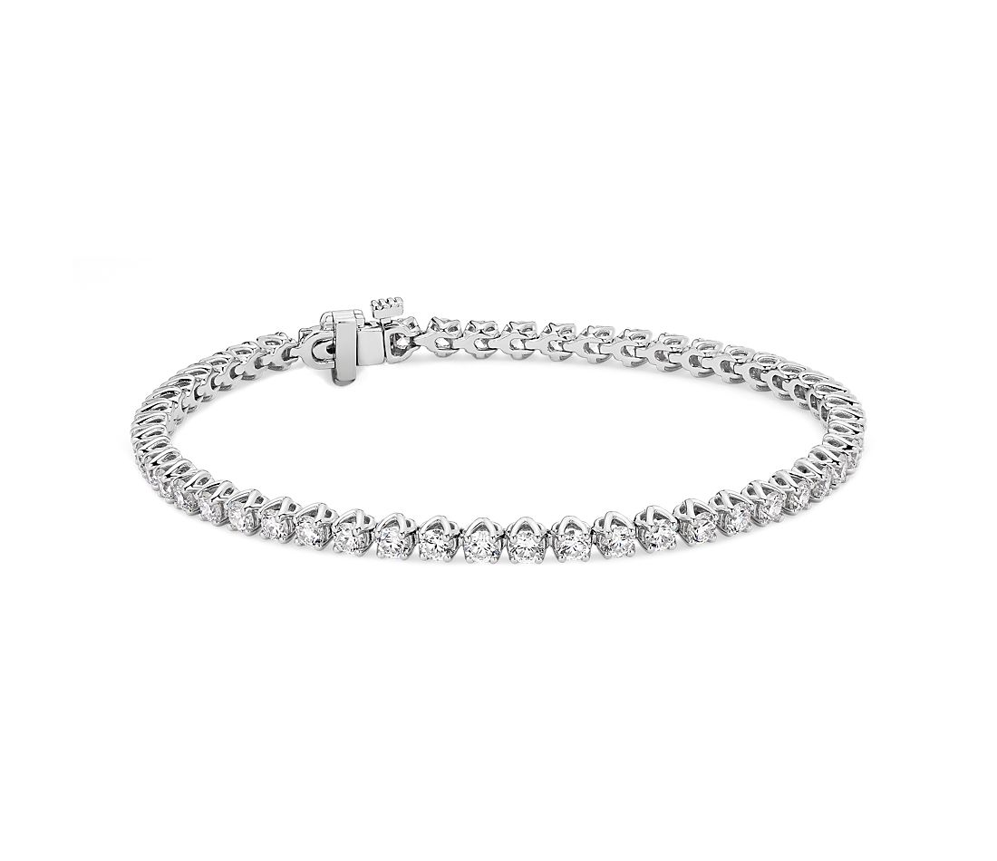 Classic Diamond Tennis Bracelet in 14k White Gold (4.08 ct. tw.)
