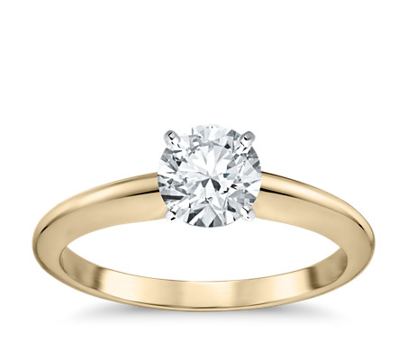 custom yellow jewellery gold engagement hand solitaire diamond ring rings
