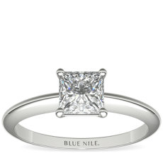 Classic Four Claw Solitaire Engagement Ring in Platinum