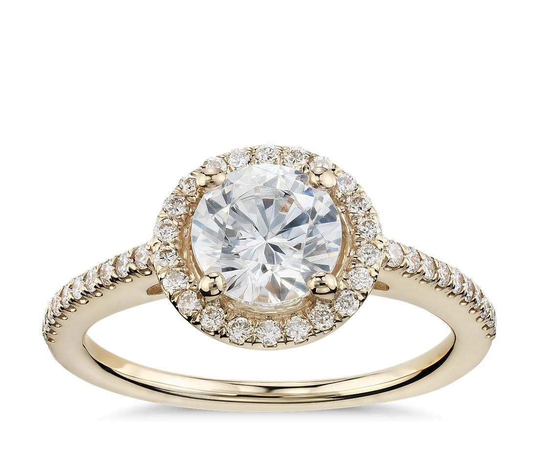 Classic Halo Diamond Engagement Ring in 14k Yellow Gold (1 4 ct. tw.) d4328e493da8