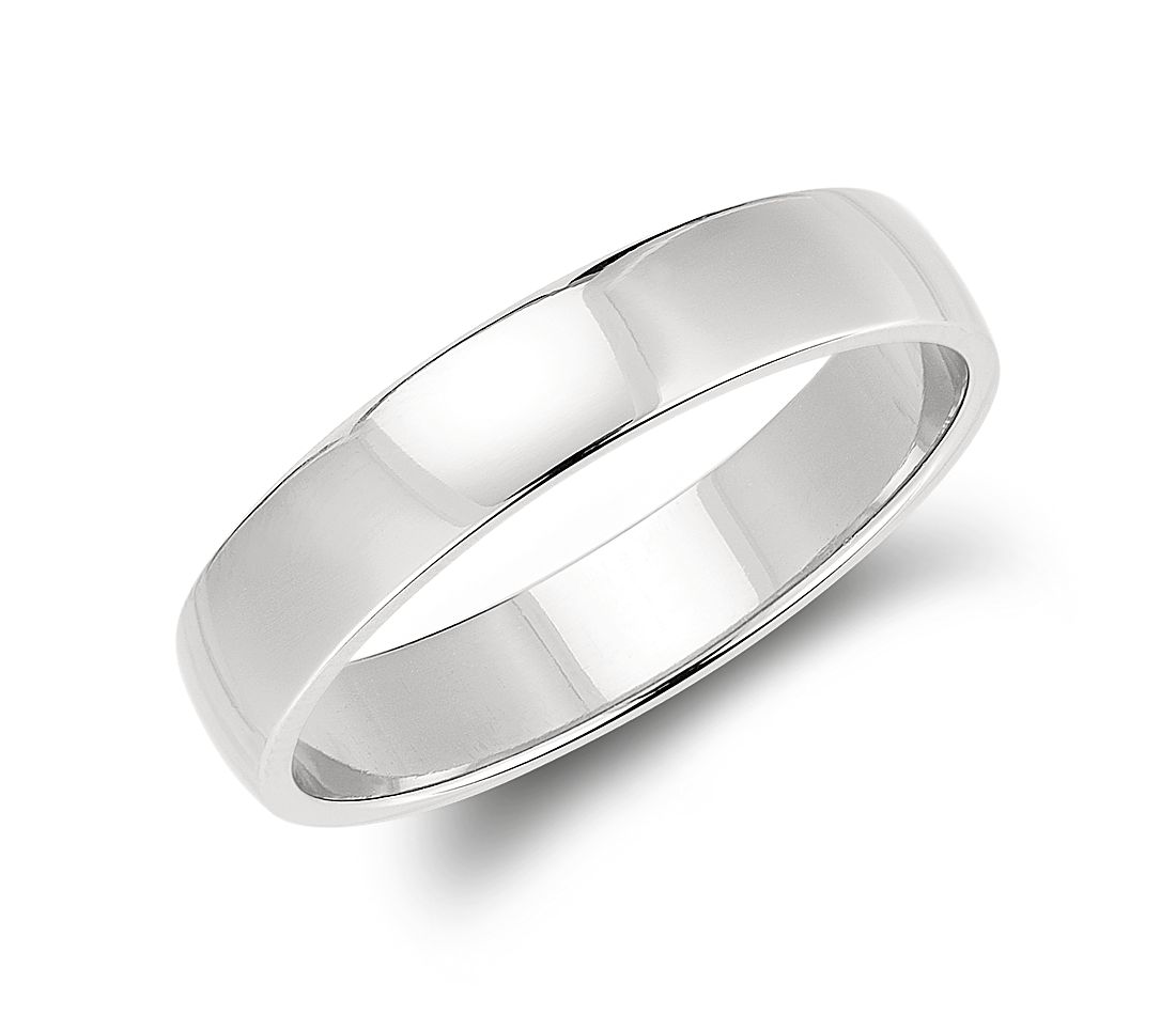 classic wedding ring in platinum 5mm - Classic Wedding Rings