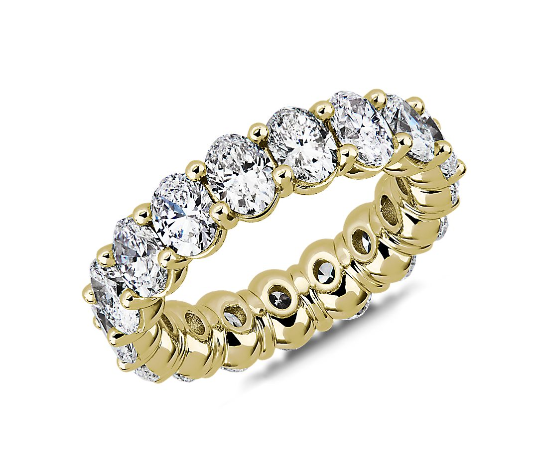 Classic Oval-Cut Diamond Eternity Ring in 18 Yellow Gold by Blue Nile