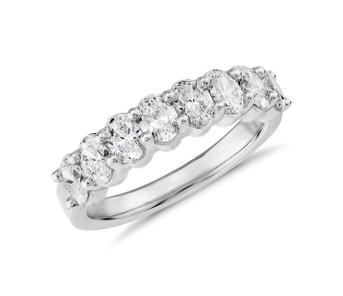 Classic Oval Cut Eight Stone Diamond Ring in Platinum (1 1/5 ct. tw.)