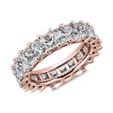 Classic Radiant-Cut Diamond Eternity Ring in 18k Rose Gold (5 1/2 ct. tw.)