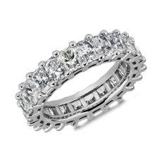 Classic Radiant-Cut Diamond Eternity Ring in Platinum (5 1/2 ct. tw.)