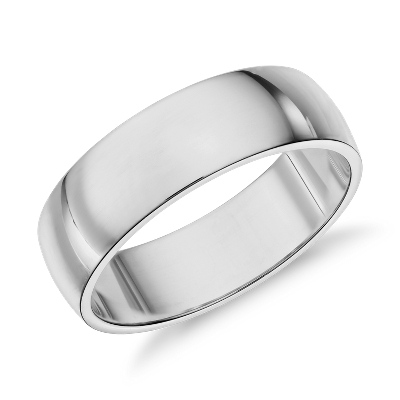 Classic Wedding Ring in 14k White Gold 6mm Blue Nile
