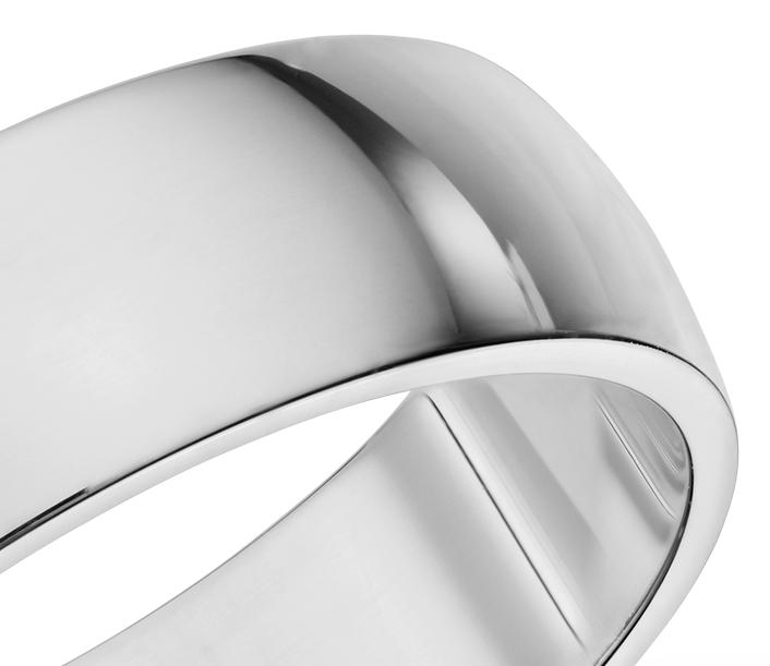 Alliance classique en or blanc 14carats (6mm)