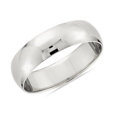 Classic Wedding Ring in 14k White Gold (6mm)