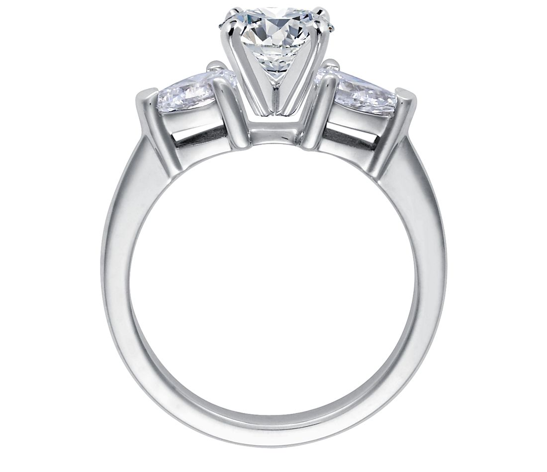 Classic Simple Solitaire Engagement Ring in 14k White Gold ...
