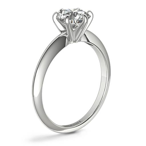 Classic Six Claw Solitaire Engagement Ring