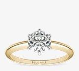 经典六爪单石订婚戒指