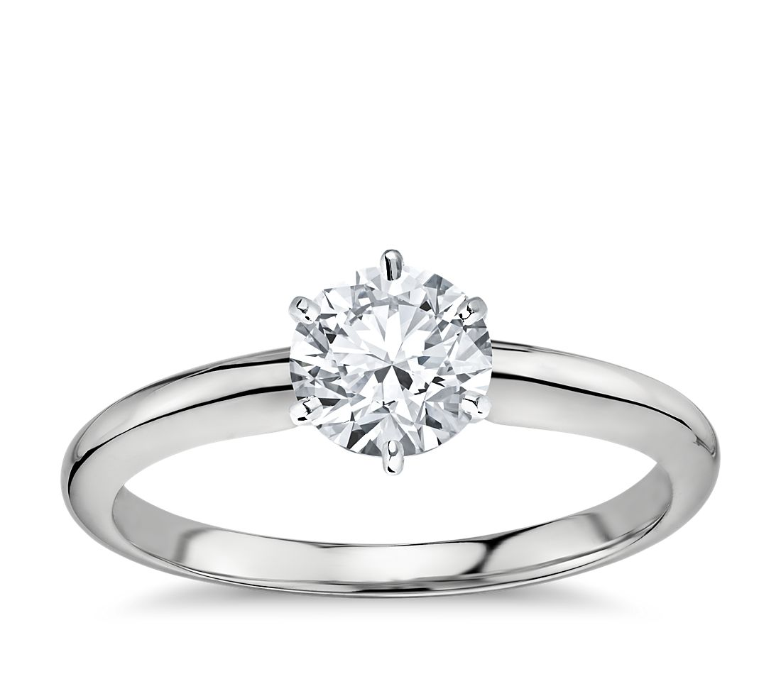 1 Carat Ready-to-Ship Classic Six-Prong Solitaire Engagement Ring in Platinum