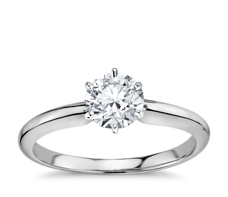 wall tapered band diamond ctw pave engagement ring in pav platinum
