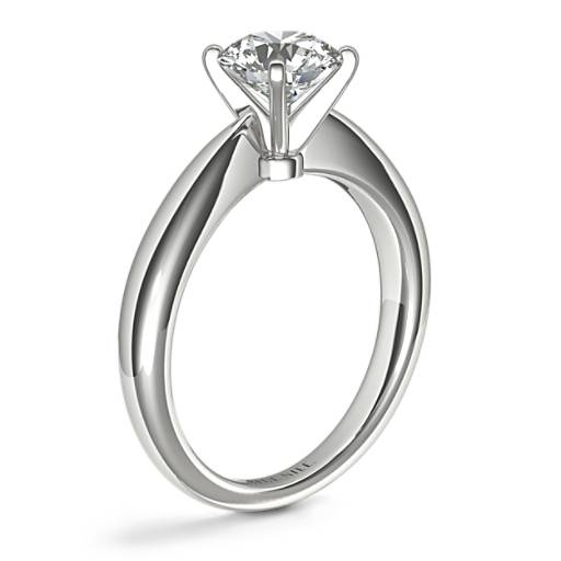 Classic Tapered Four Claw Solitaire Engagement Ring
