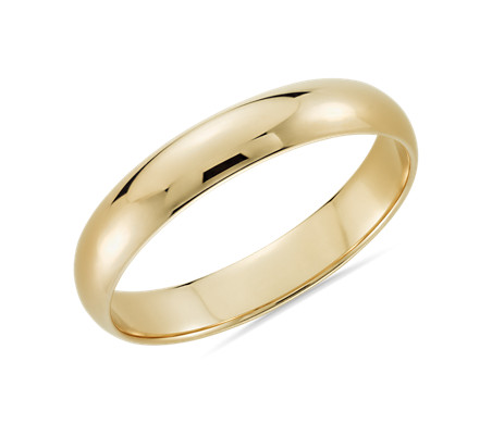 Classic Wedding Ring in 14k Yellow Gold (4mm)