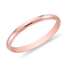 Alliance classique en or rose 14 carats (2 mm)