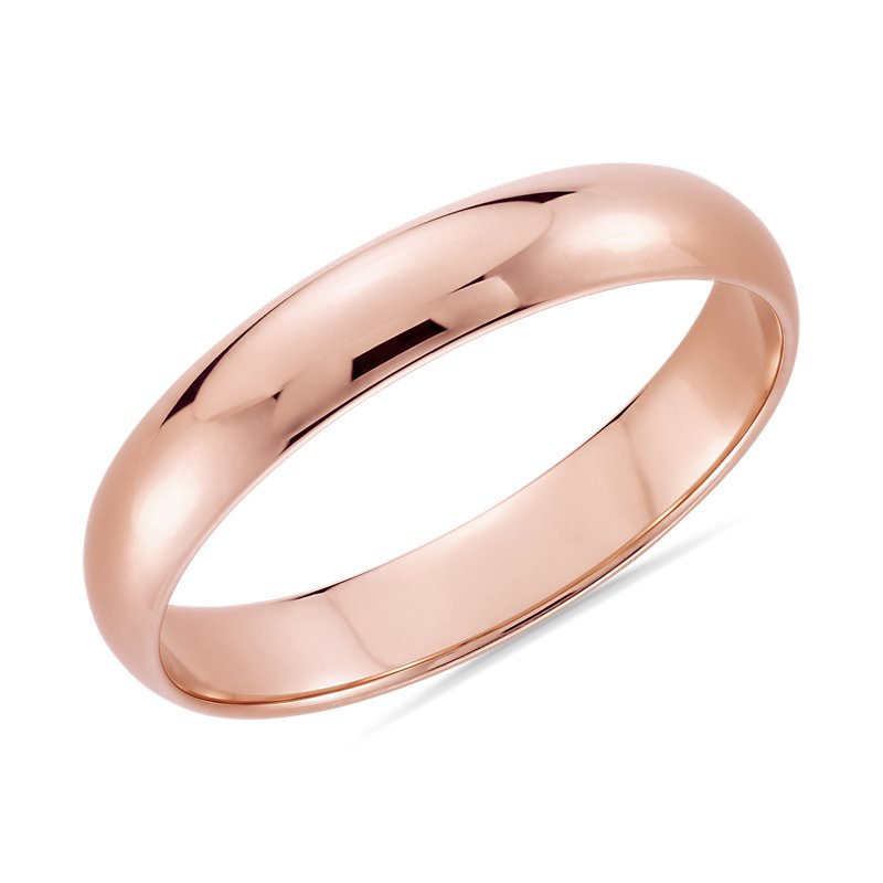 Classic Wedding Ring in 14k Rose Gold (4mm)