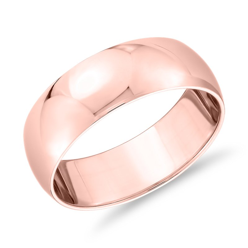 Classic Wedding Ring in 14k Rose Gold (7mm)