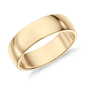 Classic Wedding Ring in 14k Yellow Gold (6mm)