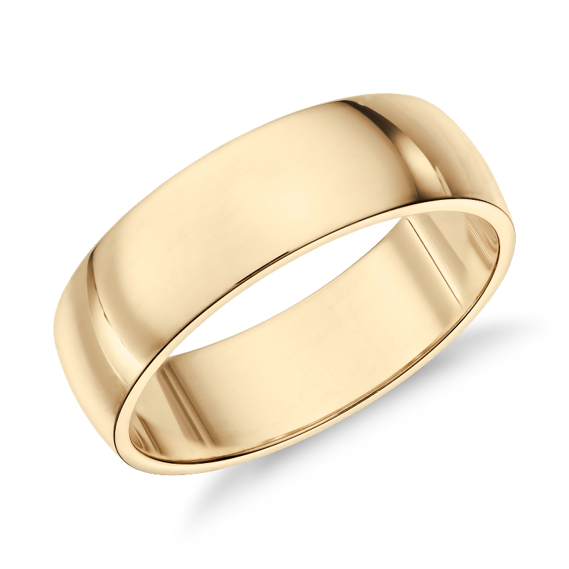 Classic Wedding Ring in 14k Yellow Gold (7mm)