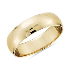 14k 黃金經典結婚戒指(6毫米)