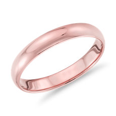Classic Wedding Ring in 18k Rose Gold (3mm)